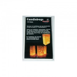 Candlebags groot 10st ass decors