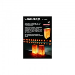 Candlebags middel 12st ass decors